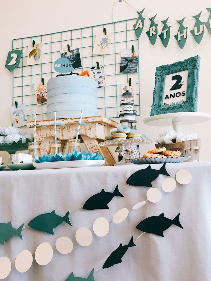 Modern Shark + Ocean Party on Kara's Party Ideas   KarasPartyIdeas.com (5)