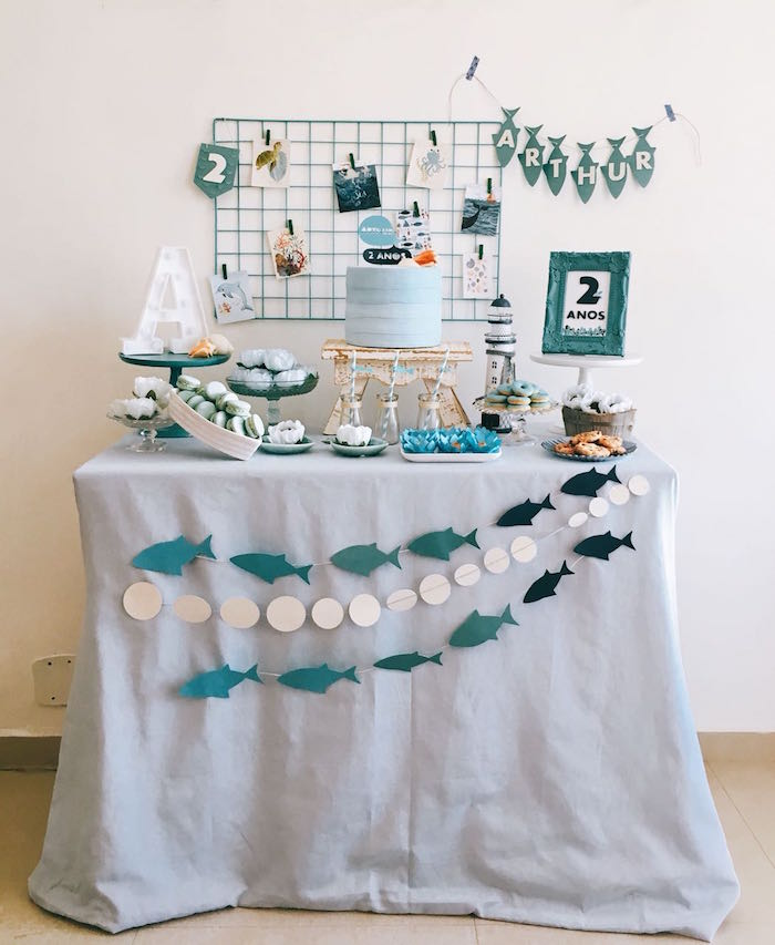 Modern Shark + Ocean Party on Kara's Party Ideas | KarasPartyIdeas.com (4)