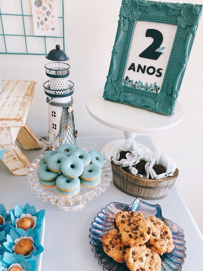 Dessert Table from a Modern Shark + Ocean Party on Kara's Party Ideas | KarasPartyIdeas.com (19)