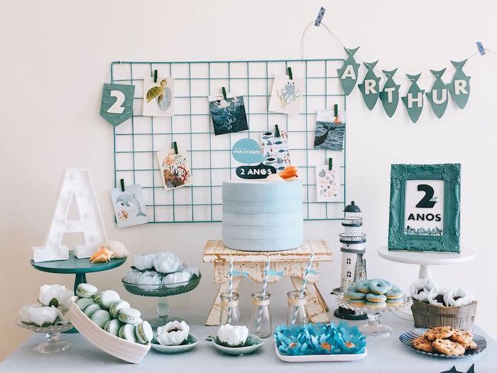 Modern Shark + Ocean Party on Kara's Party Ideas   KarasPartyIdeas.com (18)