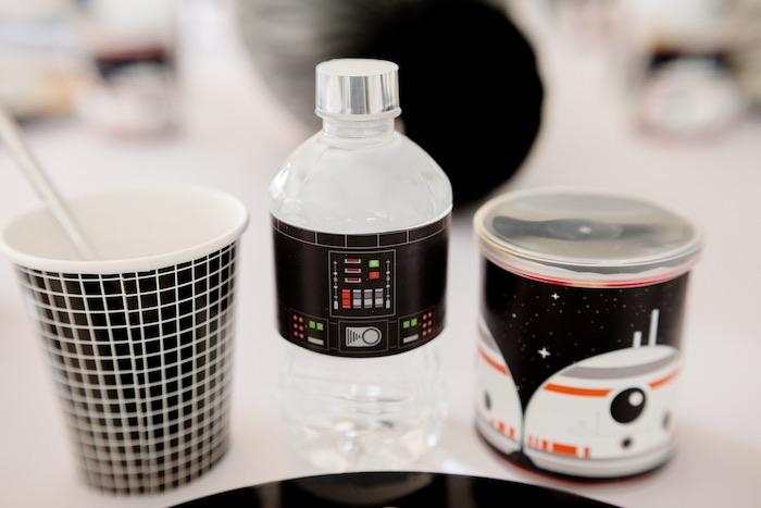 Drinks + Cups from a Monochromatic Star Wars Birthday Party on Kara's Party Ideas | KarasPartyIdeas.com (26)