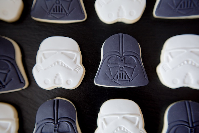 Storm Trooper + Vader Cookies from a Monochromatic Star Wars Birthday Party on Kara's Party Ideas | KarasPartyIdeas.com (35)