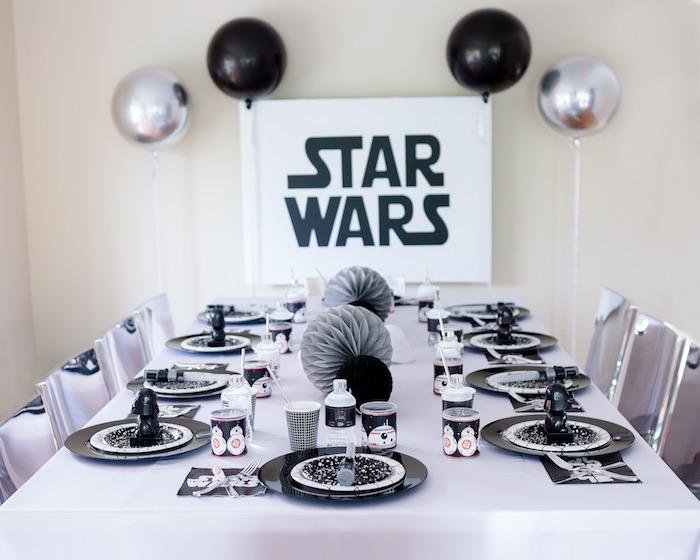 Monochromatic Star Wars Birthday Party on Kara's Party Ideas | KarasPartyIdeas.com (4)