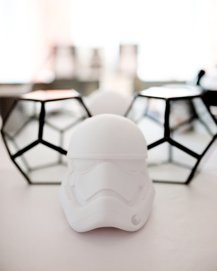 Storm Trooper Table Centerpiece from a Monochromatic Star Wars Birthday Party on Kara's Party Ideas | KarasPartyIdeas.com (31)