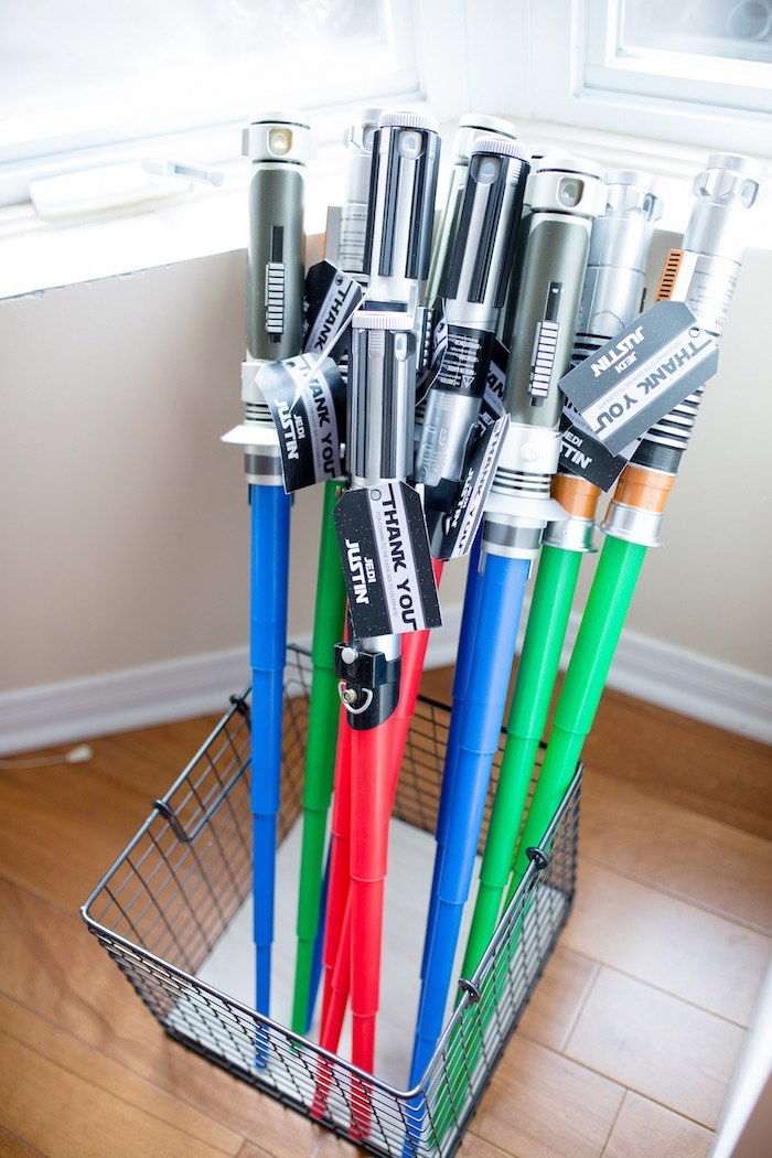 Lightsaber Favors from a Monochromatic Star Wars Birthday Party on Kara's Party Ideas | KarasPartyIdeas.com (29)