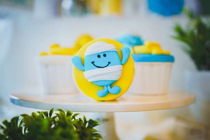 Mr. Happy-inspired Cupcake Topper from a Mr. Happy Birthday Party on Kara's Party Ideas | KarasPartyIdeas.com (11)