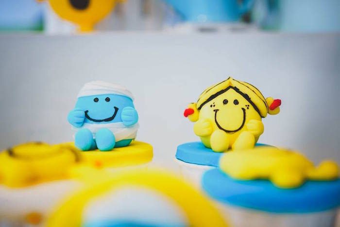 Mr. Happy-inspired Cupcakes from a Mr. Happy Birthday Party on Kara's Party Ideas | KarasPartyIdeas.com (6)