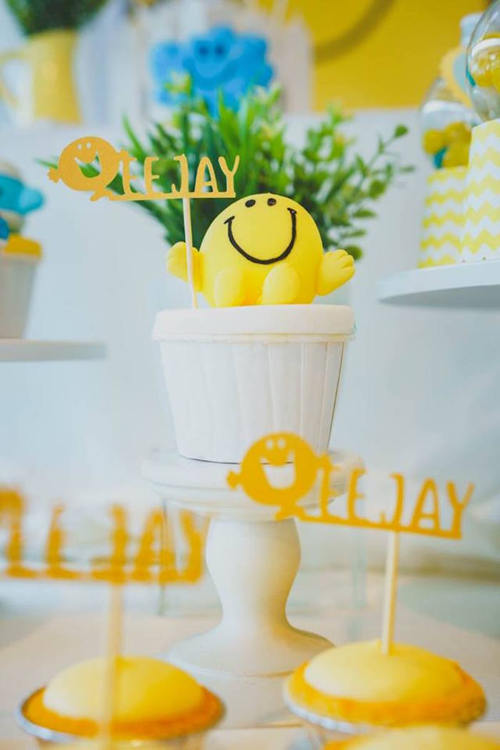 Mr. Happy Cupcake Topper from a Mr. Happy Birthday Party on Kara's Party Ideas | KarasPartyIdeas.com (5)