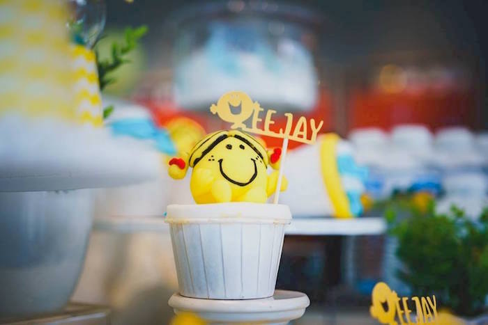Mr. Happy-inspired Cupcake from a Mr. Happy Birthday Party on Kara's Party Ideas | KarasPartyIdeas.com (20)