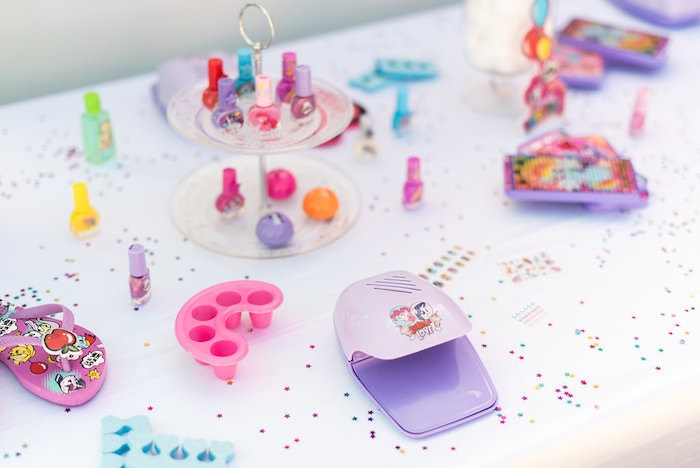 Primping Pony Parlour Table from a My Little Pony Birthday Party on Kara's Party Ideas | KarasPartyIdeas.com (16)