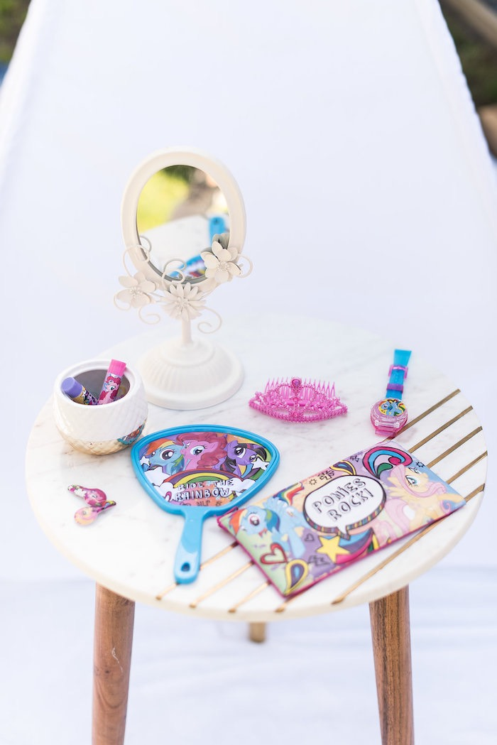 Pony Primping Table from a My Little Pony Birthday Party on Kara's Party Ideas | KarasPartyIdeas.com (14)