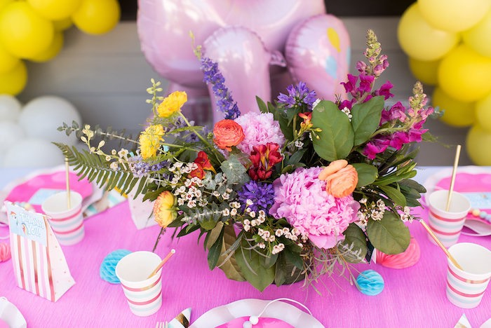 Assorted Flower Floral Arrangement from a My Little Pony Birthday Party on Kara's Party Ideas | KarasPartyIdeas.com (11)
