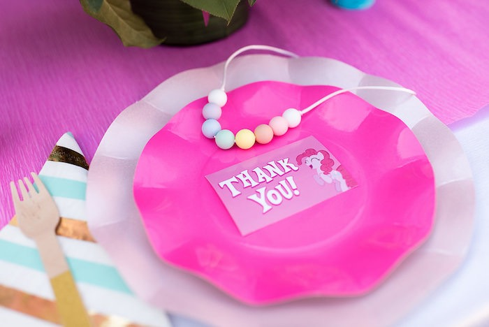 Pink Ruffle Plates from a My Little Pony Birthday Party on Kara's Party Ideas | KarasPartyIdeas.com (10)