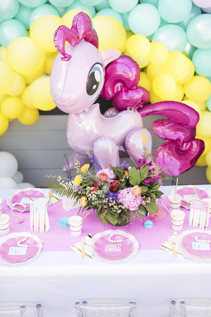 My Little Pony Guest Table from a My Little Pony Birthday Party on Kara's Party Ideas | KarasPartyIdeas.com (5)