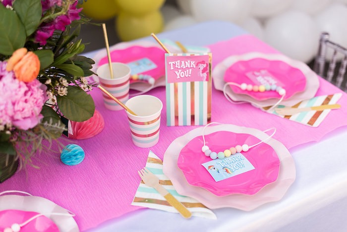 My Little Pony-inspired Table Setting from a My Little Pony Birthday Party on Kara's Party Ideas | KarasPartyIdeas.com (24)
