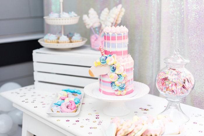 Pony Themed Dessert Table from a My Little Pony Birthday Party on Kara's Party Ideas | KarasPartyIdeas.com (22)