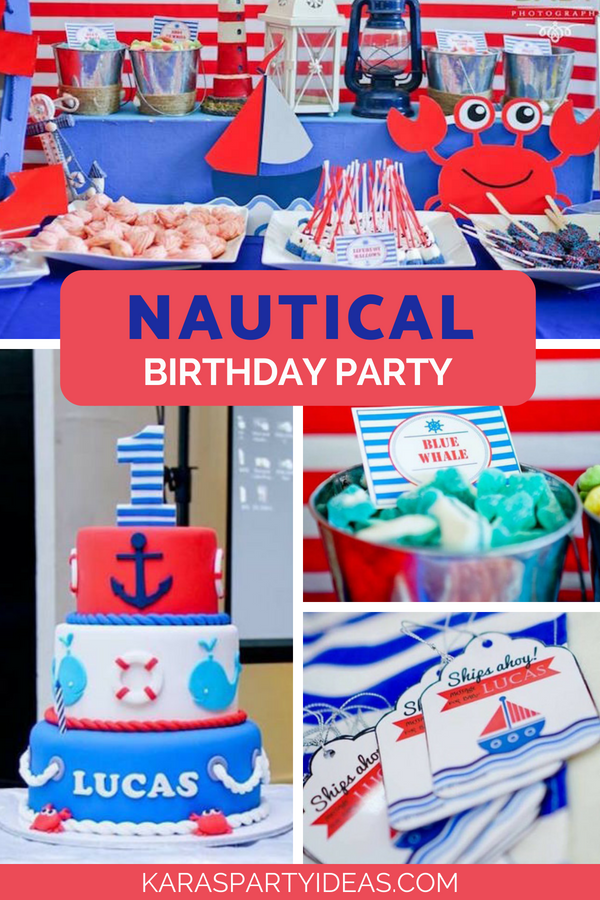 Nautical Birthday Party via Kara_s Party Ideas - KarasPartyIdeas.com