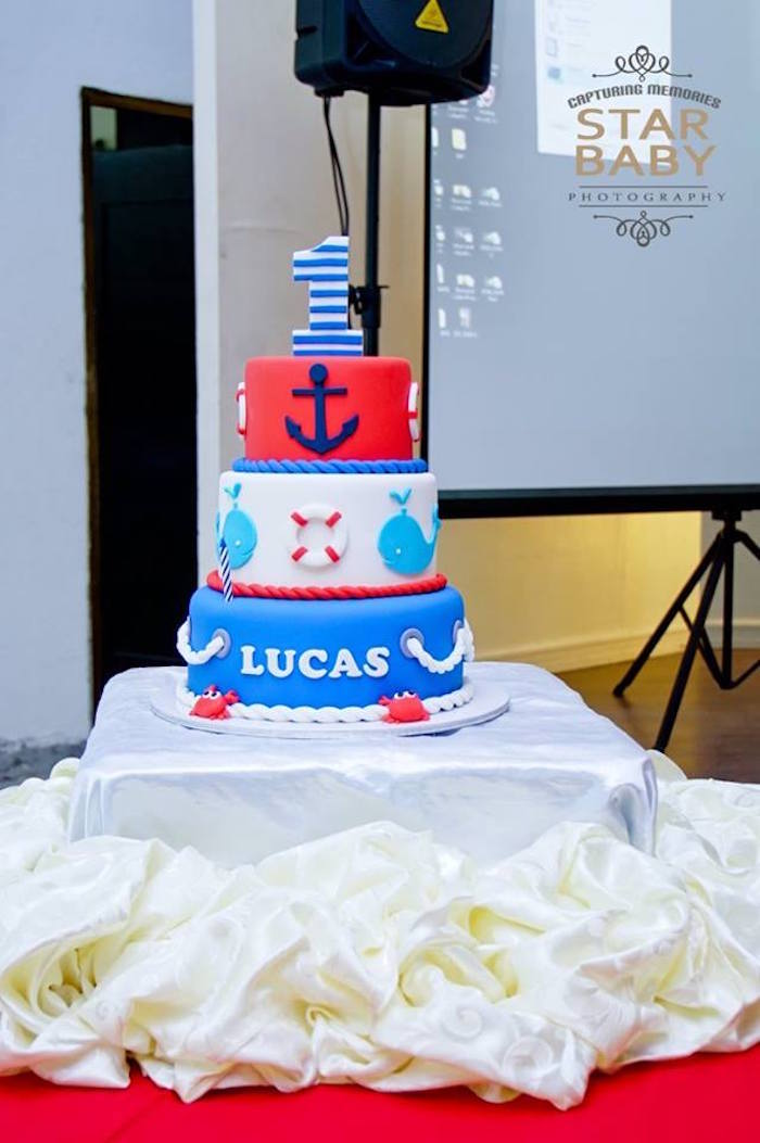 Nautical Cake from a Nautical Birthday Party on Kara's Party Ideas | KarasPartyIdeas.com (23)
