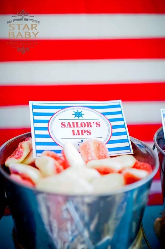 Sailor's Lips from a Nautical Birthday Party on Kara's Party Ideas | KarasPartyIdeas.com (22)