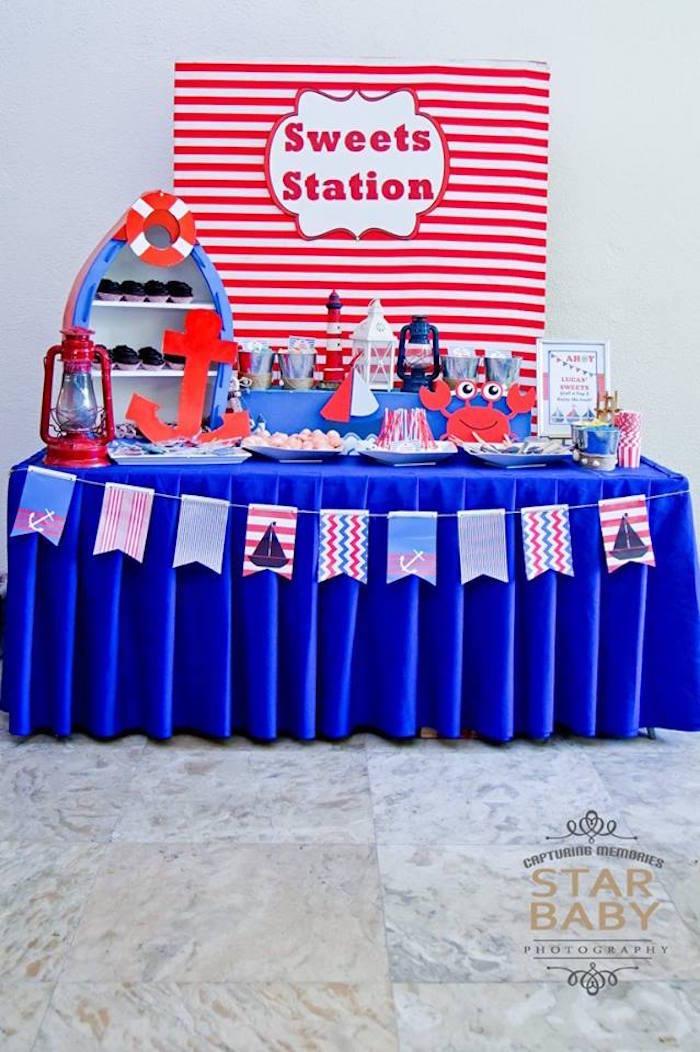 Nautical Birthday Party on Kara's Party Ideas | KarasPartyIdeas.com (18)