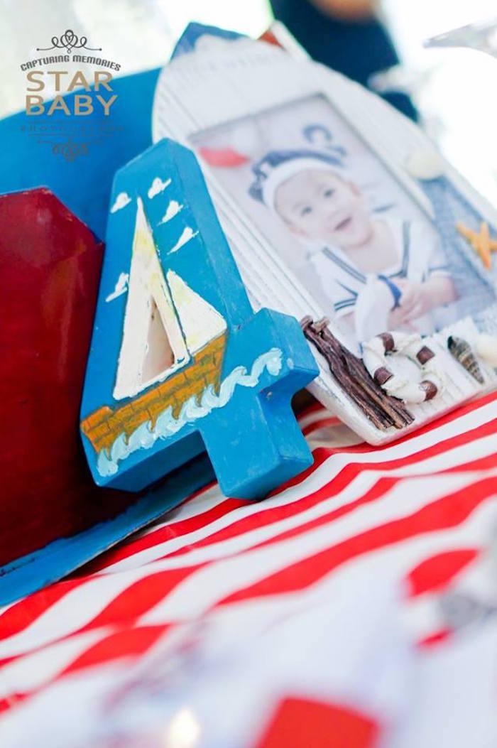 "Sailboat ""4"" from a Nautical Birthday Party on Kara's Party Ideas | KarasPartyIdeas.com (14)"