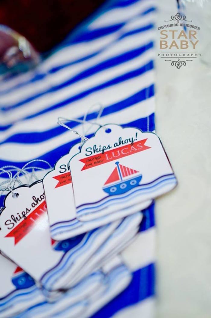 Nautical Message Tags from a Nautical Birthday Party on Kara's Party Ideas | KarasPartyIdeas.com (13)