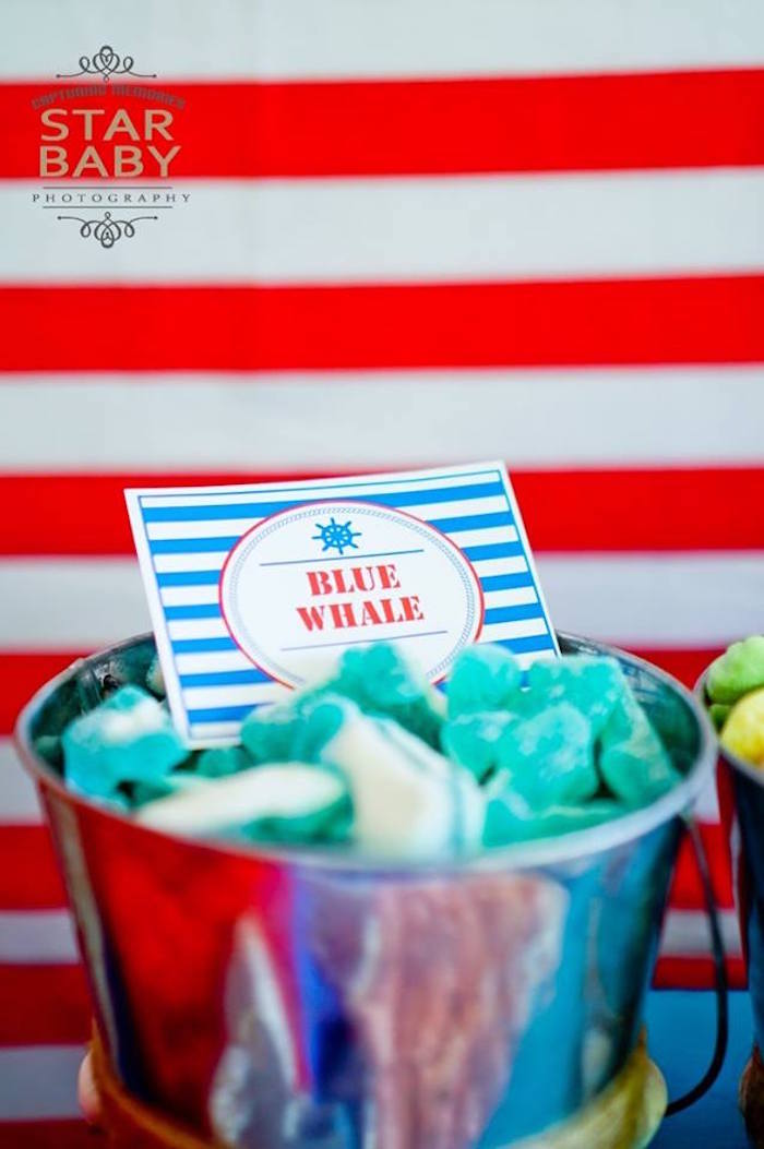 Blue Whale Candy from a Nautical Birthday Party on Kara's Party Ideas | KarasPartyIdeas.com (6)
