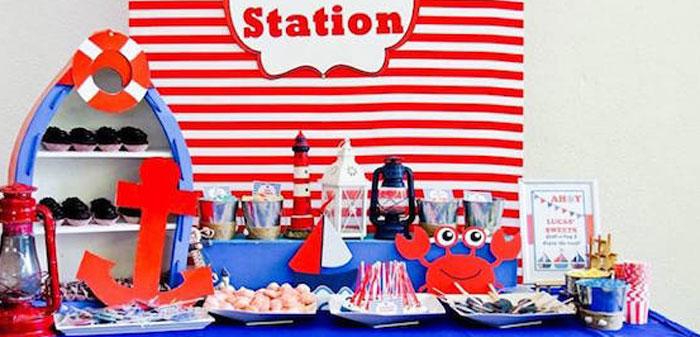 Nautical Birthday Party on Kara's Party Ideas | KarasPartyIdeas.com (3)