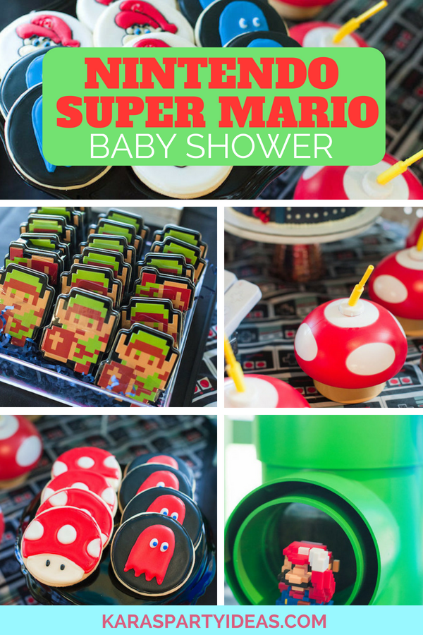 Nintendo Super Mario Baby Shower via Kara_s Party Ideas - KarasPartyIdeas.com