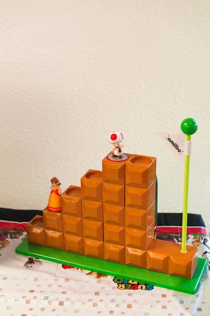 Mario Decoration from a Nintendo Super Mario Baby Shower on Kara's Party Ideas | KarasPartyIdeas.com (9)