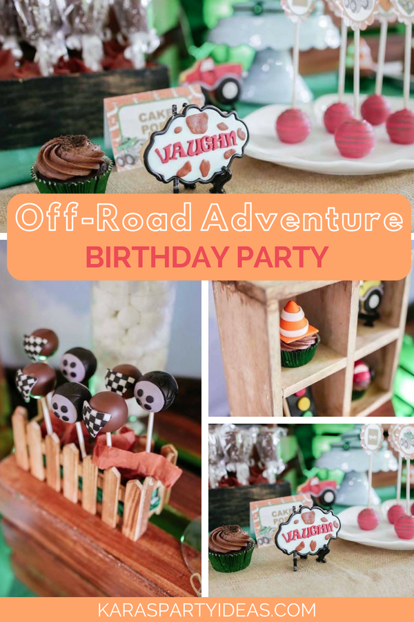 Off-Road Adventure Birthday Party via Kara_s Party Ideas - KarasPartyIdeas.com