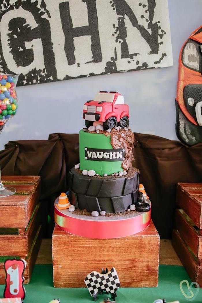 Truck Cake from an Off-Road Adventure Birthday Party on Kara's Party Ideas | KarasPartyIdeas.com (11)