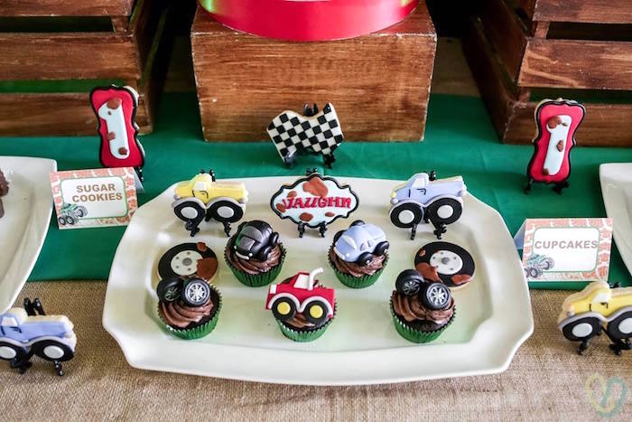 Off-Road Cupcakes & Cookies from an Off-Road Adventure Birthday Party on Kara's Party Ideas | KarasPartyIdeas.com (10)