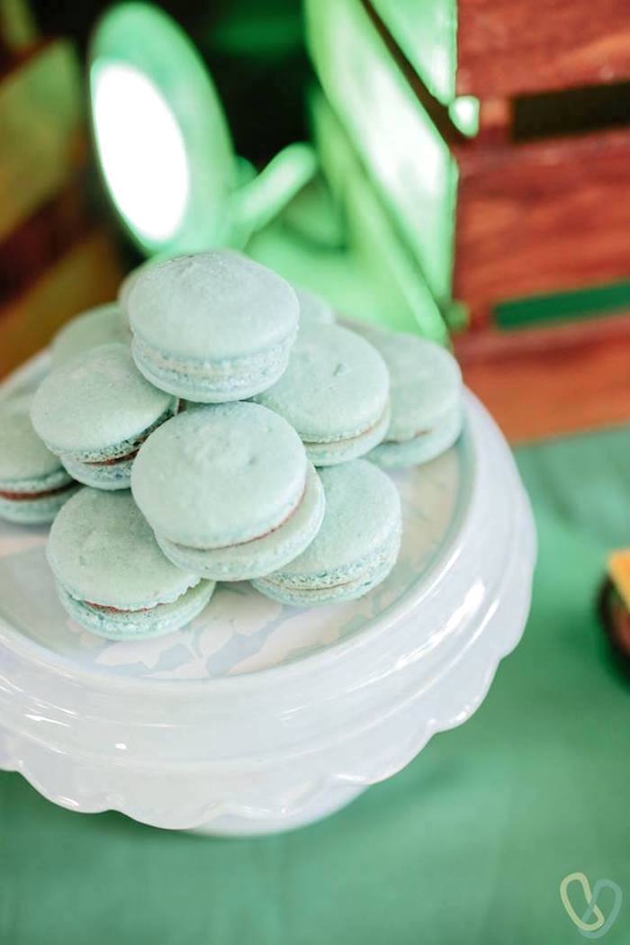 Mint Macarons from an Off-Road Adventure Birthday Party on Kara's Party Ideas | KarasPartyIdeas.com (8)