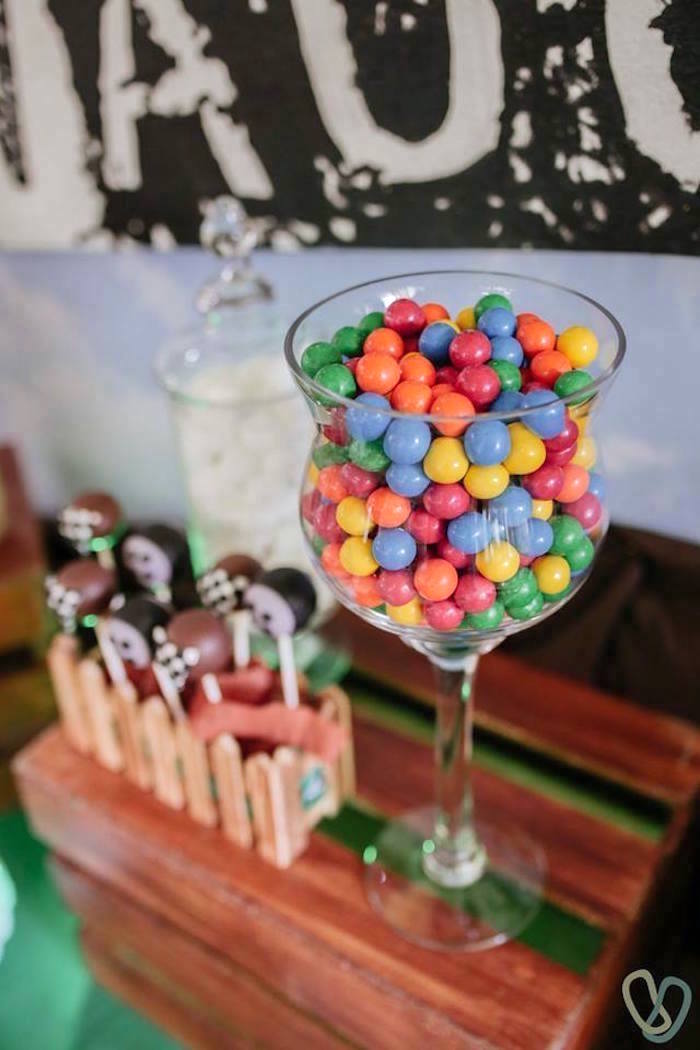 Candy Dish from an Off-Road Adventure Birthday Party on Kara's Party Ideas | KarasPartyIdeas.com (20)