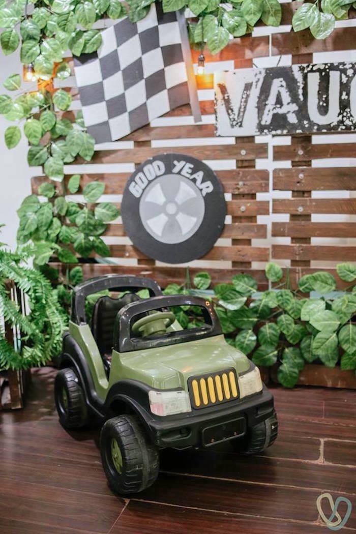 Backdrop from an Off-Road Adventure Birthday Party on Kara's Party Ideas | KarasPartyIdeas.com (17)