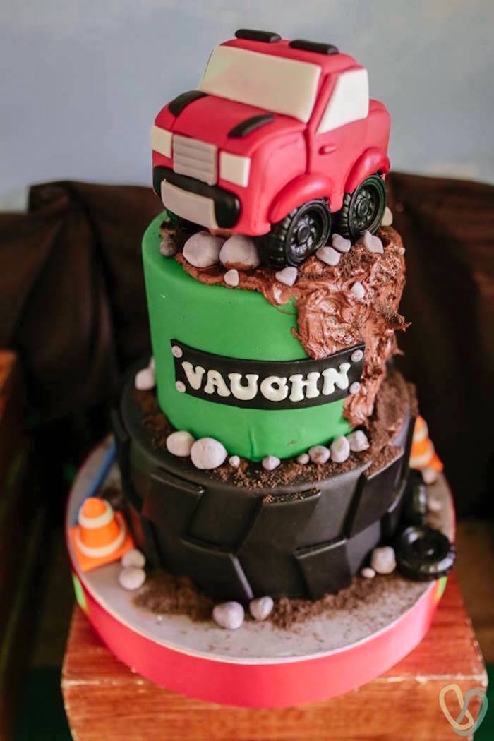 Rugged Off-Road Cake from an Off-Road Adventure Birthday Party on Kara's Party Ideas | KarasPartyIdeas.com (13)