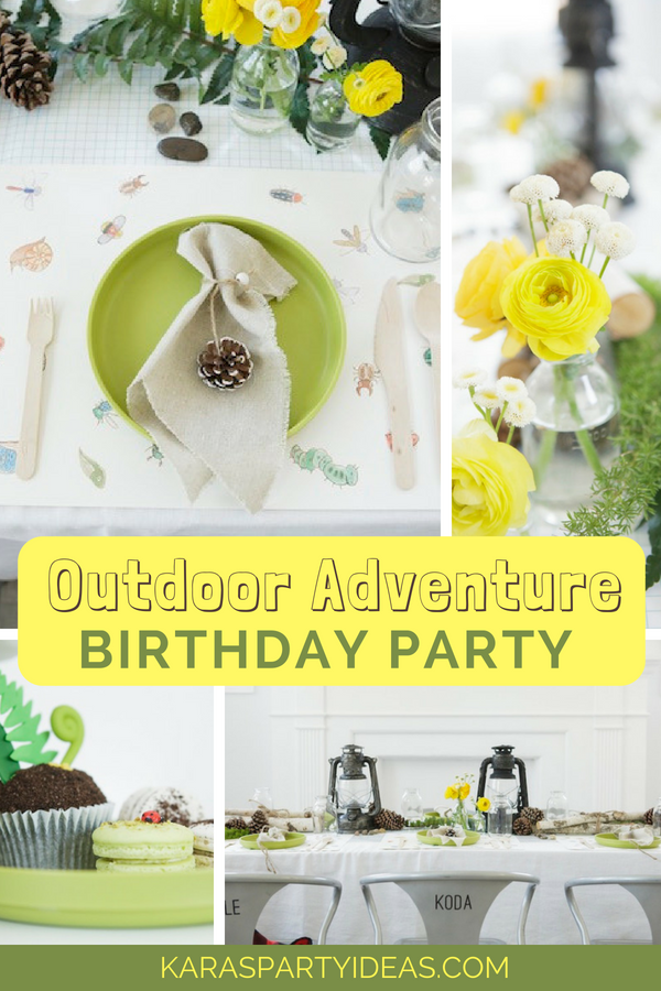 Outdoor Adventure Birthday Party via Kara_s Party Ideas - KarasPartyIdeas.com