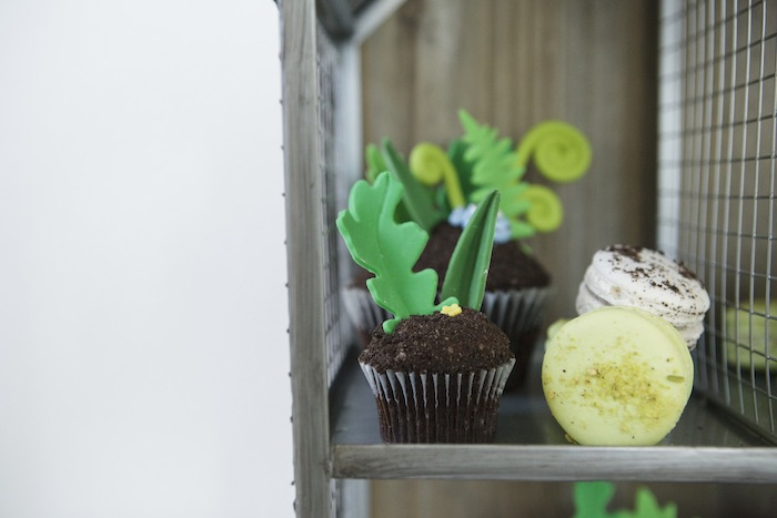 Cupcake from an Outdoor Adventure Birthday Party on Kara's Party Ideas | KarasPartyIdeas.com (8)