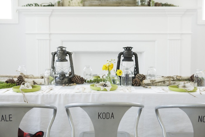 Guest Table from an Outdoor Adventure Birthday Party on Kara's Party Ideas | KarasPartyIdeas.com (41)