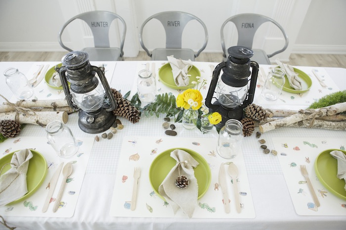 Guest Table from an Outdoor Adventure Birthday Party on Kara's Party Ideas | KarasPartyIdeas.com (39)