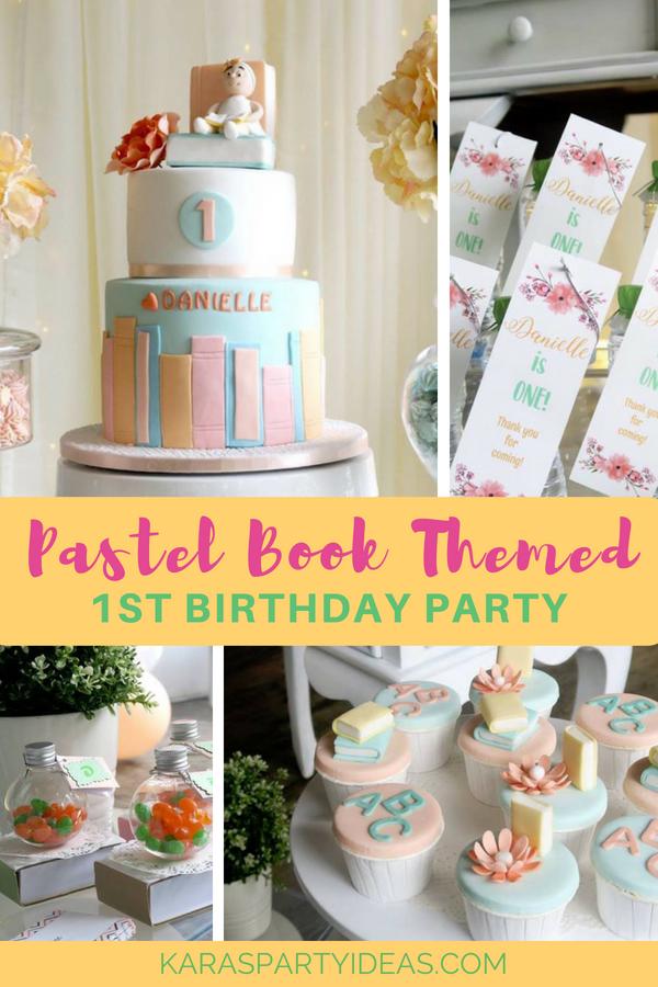 Pastel Book Themed 1st Birthday Party via Kara_s Party Ideas - KarasPartyIdeas.com
