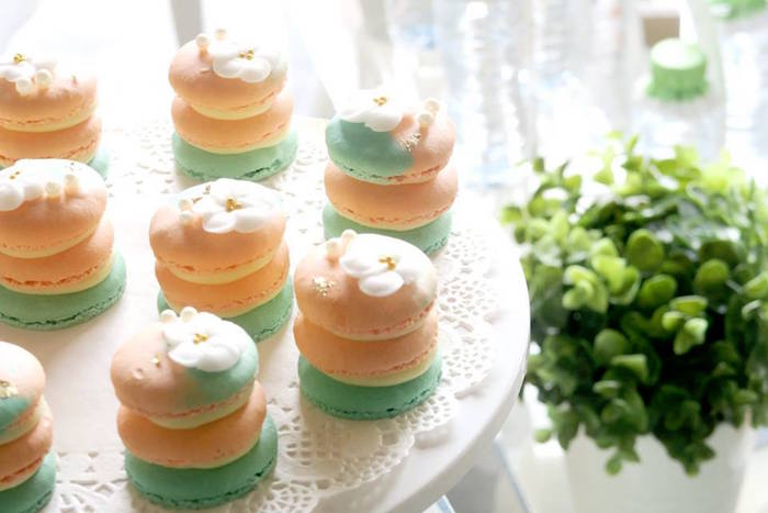 Macarons from a Pastel Book Themed 1st Birthday Party on Kara's Party Ideas | KarasPartyIdeas.com (5)