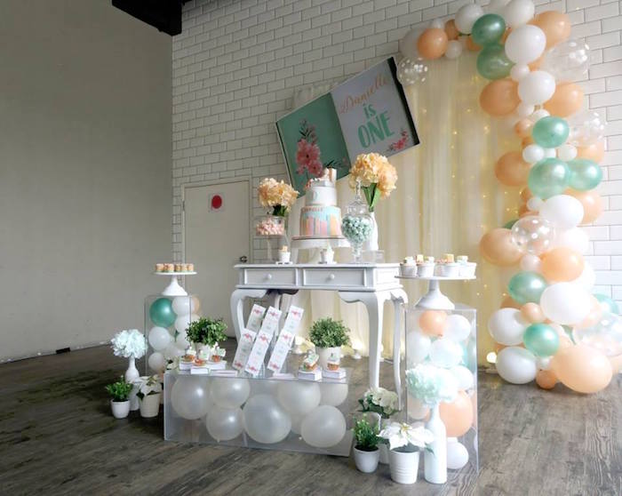 Pastel Book Themed 1st Birthday Party on Kara's Party Ideas | KarasPartyIdeas.com (19)