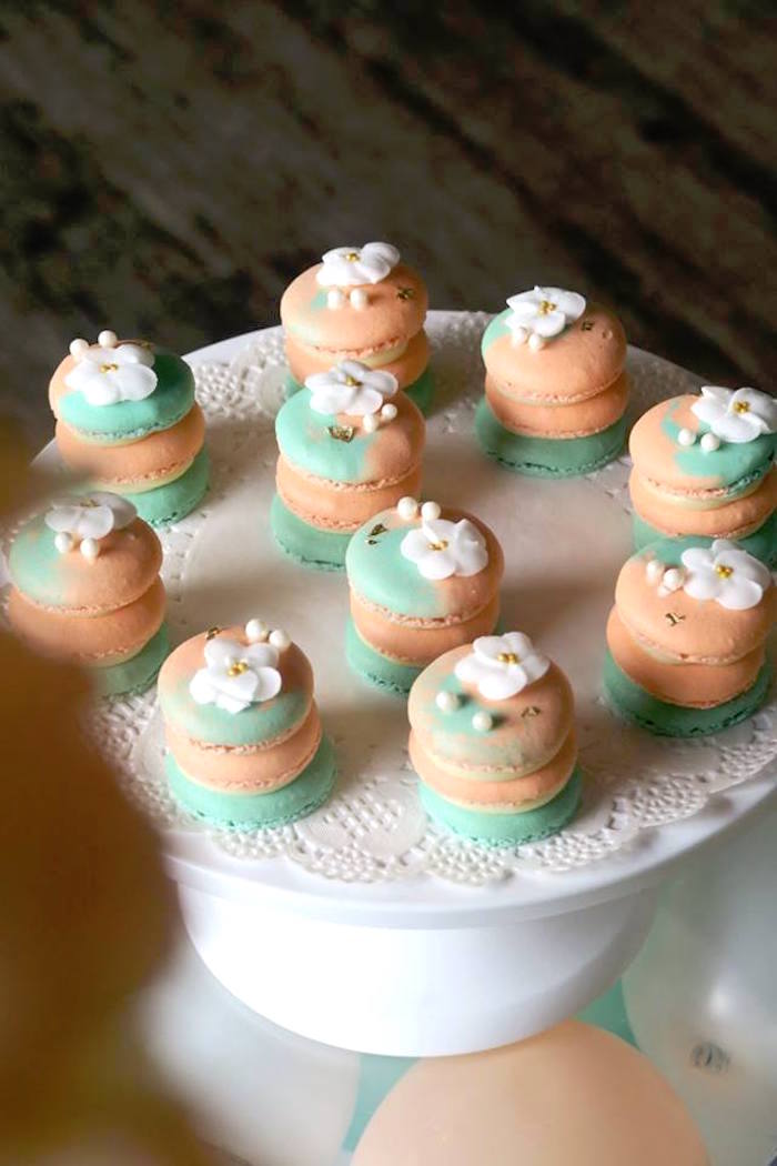 Muti-colored Macarons from a Pastel Book Themed 1st Birthday Party on Kara's Party Ideas | KarasPartyIdeas.com (18)