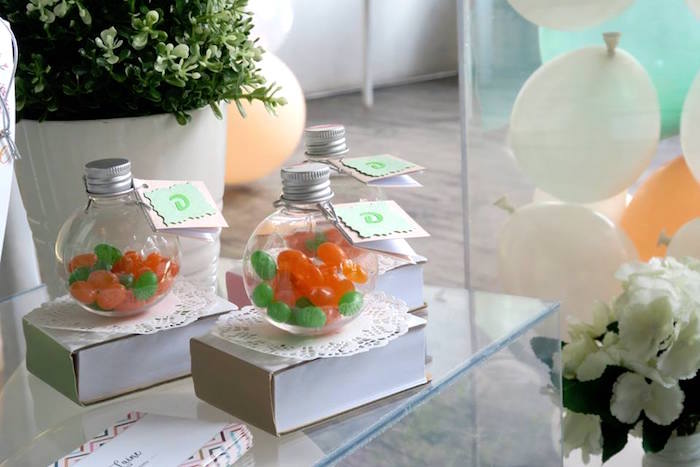 Jelly Bean Jars from a Pastel Book Themed 1st Birthday Party on Kara's Party Ideas | KarasPartyIdeas.com (15)