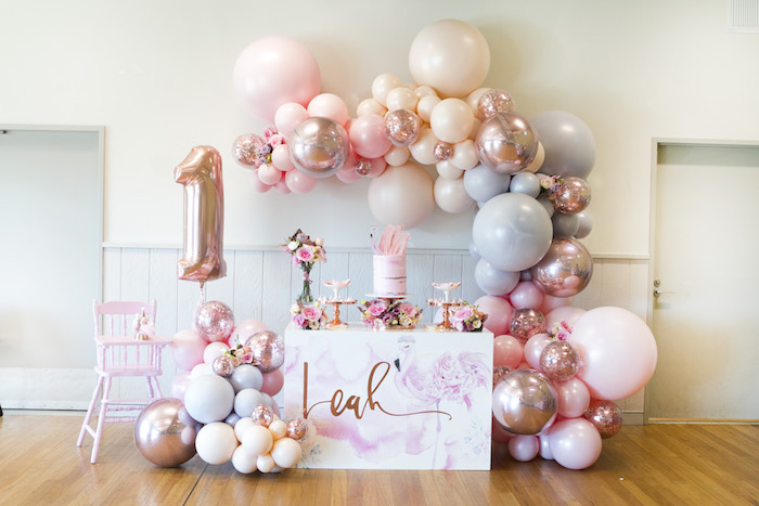 Pastel Floral Flamingo Birthday Party on Kara's Party Ideas | KarasPartyIdeas.com (4)