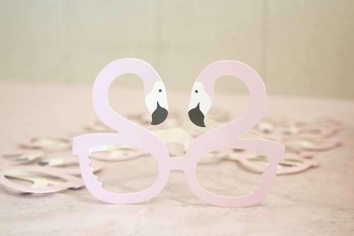 Flamingo Glasses from a Pastel Floral Flamingo Birthday Party on Kara's Party Ideas | KarasPartyIdeas.com (23)