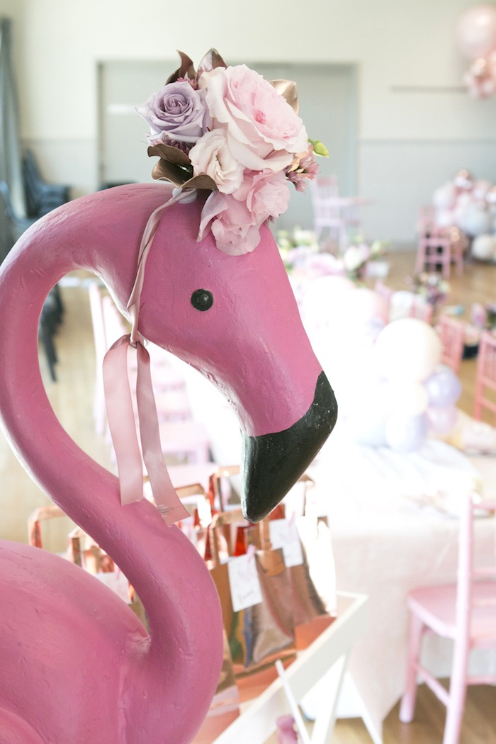 Floral Flamingo from a Pastel Floral Flamingo Birthday Party on Kara's Party Ideas | KarasPartyIdeas.com (19)