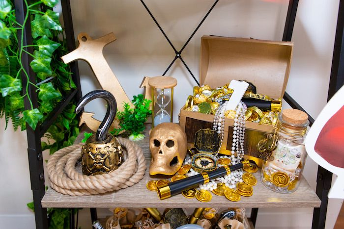 Pirate Loot from a Peter Pan in Neverland First Birthday Party on Kara's Party Ideas | KarasPartyIdeas.com (32)
